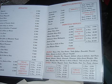 Rossini menu