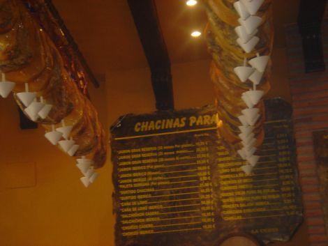 Cueva menu