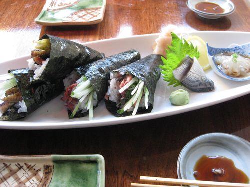 Kanoyama handrolls
