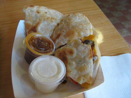 Grub quesadilla