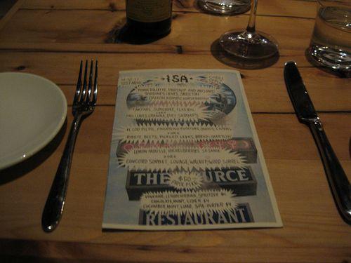 Isa menu